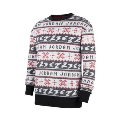 Nike 毛衣 Jumpman Holiday Crew 男款 喬丹 休閒 針織 保暖 冬季必備 白 黑 CT3460010