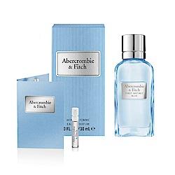 ABERCROMBIE & FITCH 湛藍女性淡香精30ml(贈隨機針管乙支)