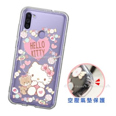 三麗鷗授權 Hello Kitty凱蒂貓 三星 Samsung Galaxy M11 愛心空壓手機殼(吃手手)