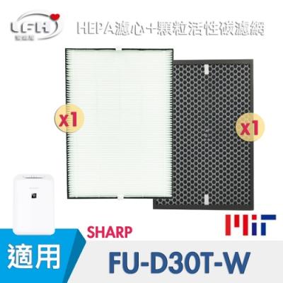 LFH HEPA+顆粒活性碳清淨機濾網 適用:SHARP夏普 FU-D30T-W/FZ-E30XT
