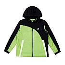 FILA KIDS 童吸濕排汗風衣外套-黃綠 1JKS-8304-LM