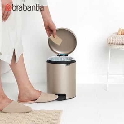 【Brabantia】NEWICON環保垃圾桶-5L香檳金(新品上市)