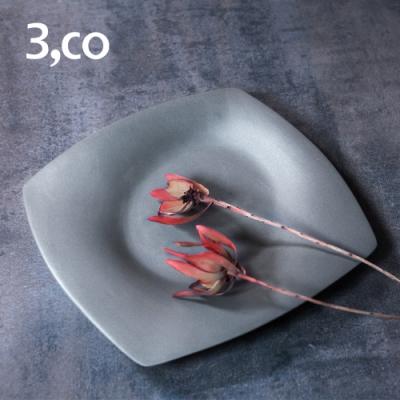 3,co 海洋四方盤(小) - 灰