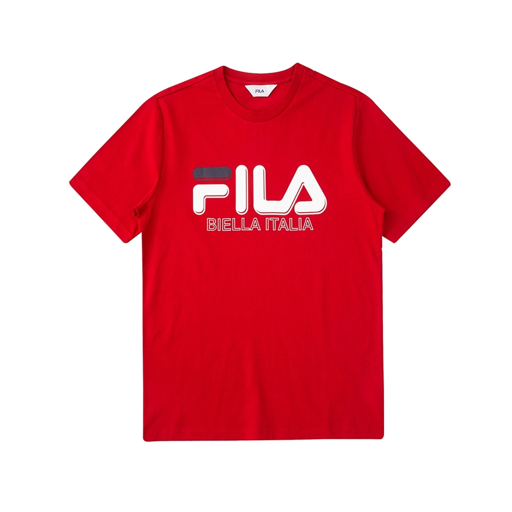 FILA 短袖圓領上衣-紅色 1TEV-1501-RD