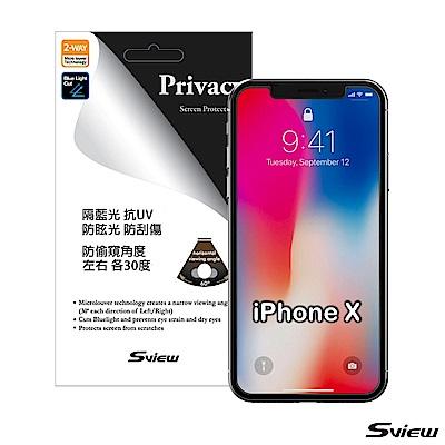 韓國製造 Sview 濾藍光 手機防窺膜 / iPhone X 專用