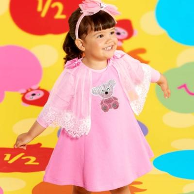 WHY AND 1/2 mini 網紗披肩傘狀洋裝 1Y~4Y