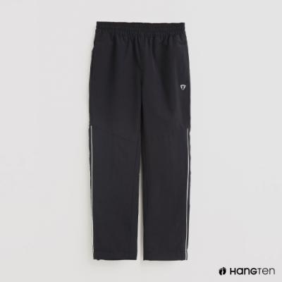 Hang Ten - 童裝 -ThermoContro-簡約刷毛腰部鬆緊機能長褲-藍