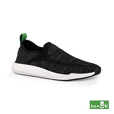 SANUK 編織素面拉環設計休閒鞋-中性款(黑色)