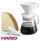 HARIO V60 4人份陶瓷濾杯/濾紙/咖啡壺組(XVDD-3012W) product thumbnail 1