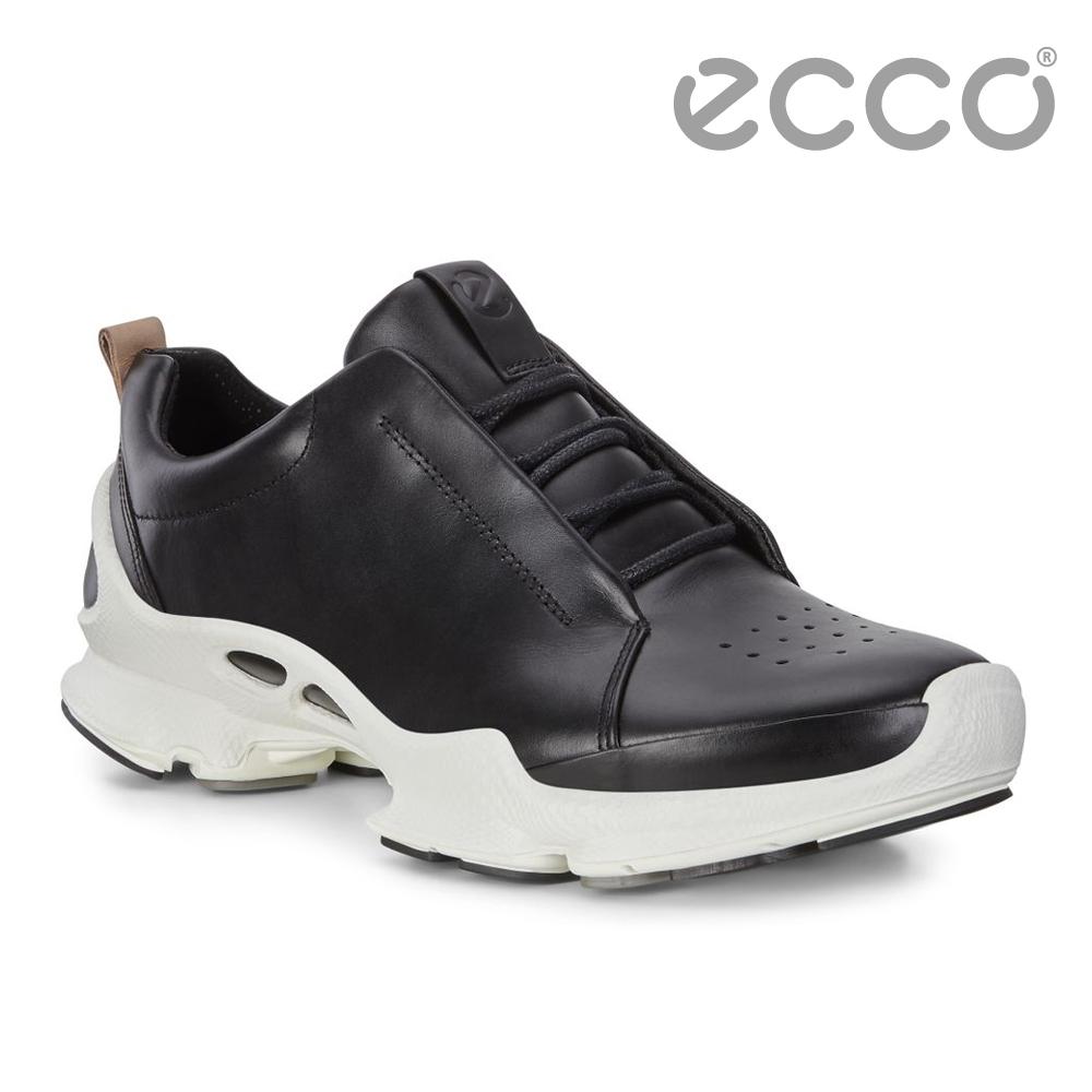 ECCO BIOM C - MENS 經典潮流閃耀皮革運動休閒鞋 男-黑