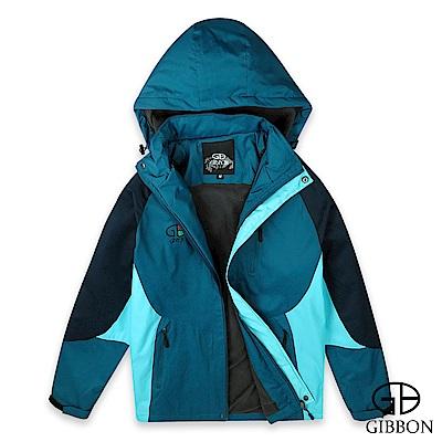 GIBBON 保暖細刷毛防風防水機能外套‧藍綠色