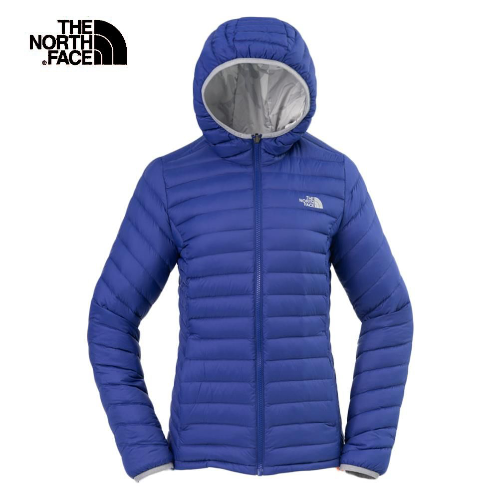 The North Face北面女款藍色防潑水羽絨外套|3KTM7GG