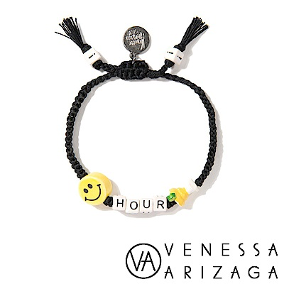 Venessa Arizaga HAPPY HOUR 笑臉手鍊 黑色手鍊