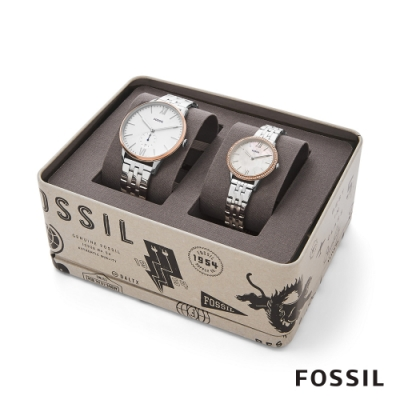FOSSIL THE ANDY AND ADDISON 鍊帶對錶 42/30MM FS5562SET