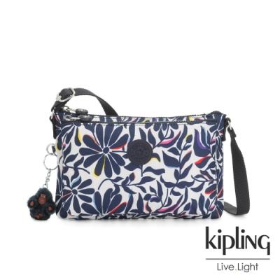Kipling 舞動炫彩點綴花卉雙袋斜背小包-MIKAELA