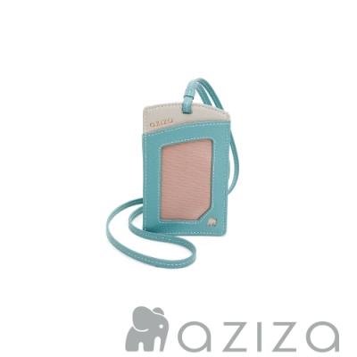 aziza 直式三卡層證件套 松石綠