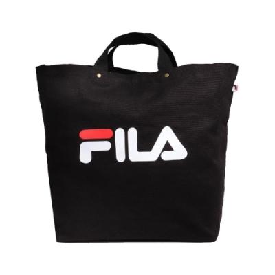 Fila 手提包 Canvas Bag 運動休閒 男女款 斐樂 兩用包 斜背 外出 輕便 帆布 黑 白 紅 BMU9010BK