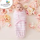 美國 Summer Infant 嬰兒包巾 懶人包巾薄款 -純棉L 粉嫩條紋