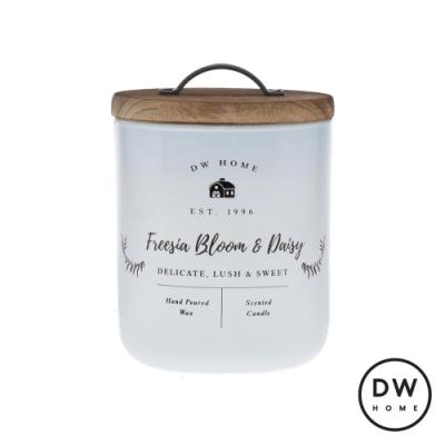 DW HOME 美國香氛 農園系列 雛菊小蒼蘭 原木蓋玻璃罐 240g