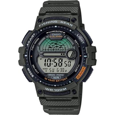 CASIO 卡西歐 釣魚專家 10年電力手錶(WS-1200H-3A)