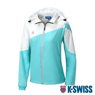 K-SWISS Panel Color Jacket輕量防風外套-女-湖水藍