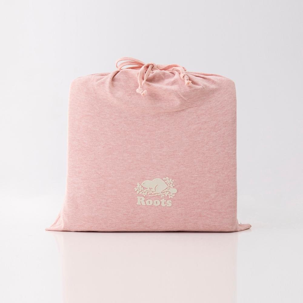 ROOTS有機棉雙人加大床包-粉