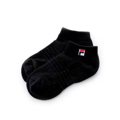 FILA 銀纖維半毛巾踝襪-黑 SCT-5200-BK