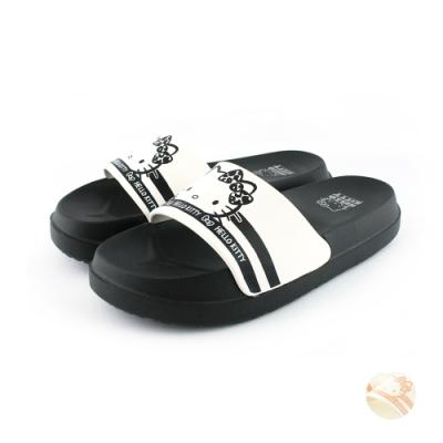 HELLO KITTY艾樂跑女鞋-厚底防水拖鞋-黑/白(920109)