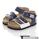TOPU ONE 輕量減壓吸震腳床型涼鞋童鞋-藍