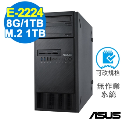 ASUS TS100-E10 伺服器 E-2224/8G/660P 1TB+1TB/FD