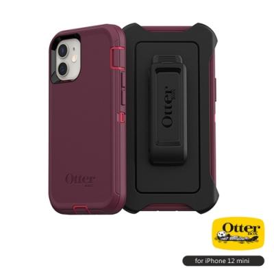 OtterBox iPhone 12 mini (5.4吋)專用 防刮防塵防摔手機保護殼-Defender防禦者系列■紫