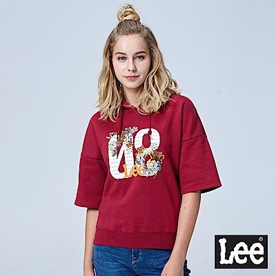 Lee 花卉LOGO帽Tee-紅色