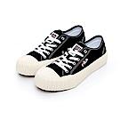 FILA 中性經典餅乾帆布鞋-黑 4-C320T-001