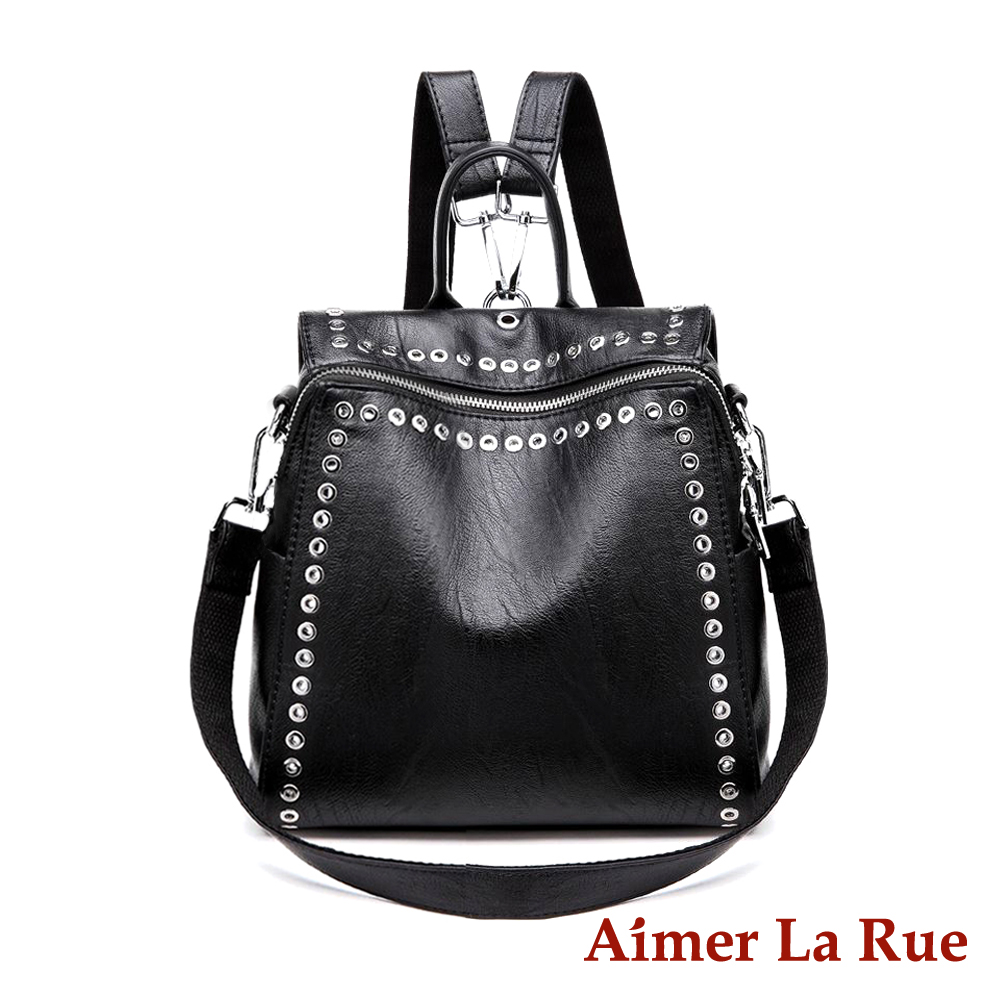 Aimer La Rue 小惡魔二用後背包-黑色(快) @ Y!購物