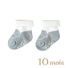10mois 小王子反折短襪(灰)