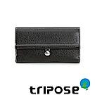 triposeYuppie系列經典LOGO鐵扣女長夾(黑色)