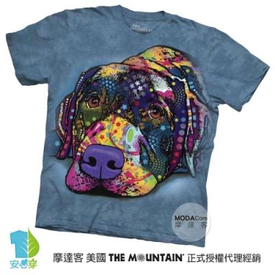 摩達客(預購)美國進口The Mountain 彩繪拉不拉多 純棉環保短袖T恤