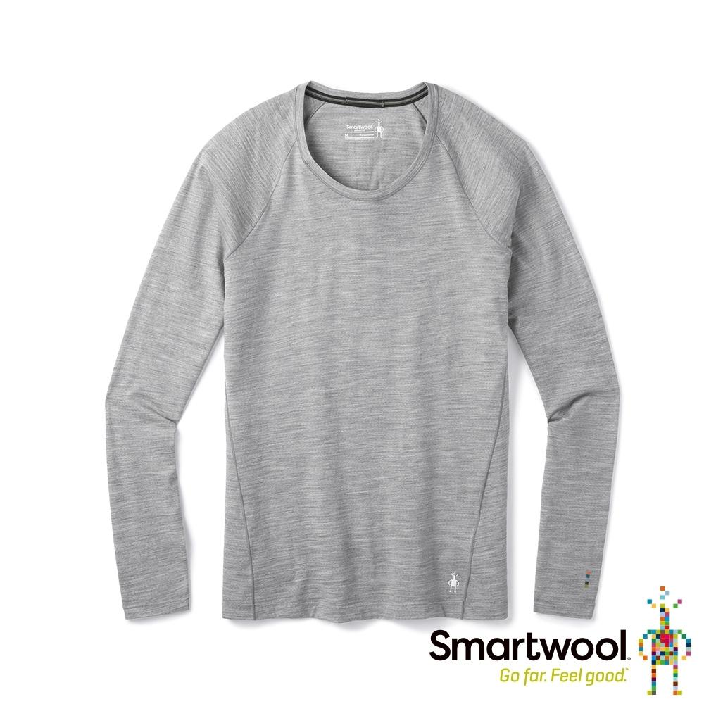 SmartWool 女 NTS Micro 150 長袖內著衣 淺灰色