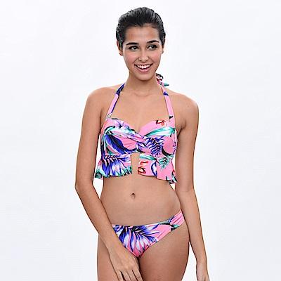 Avalanche巴西泳裝-羅馬假期-平口鋼圈造型比基尼(粉紅)