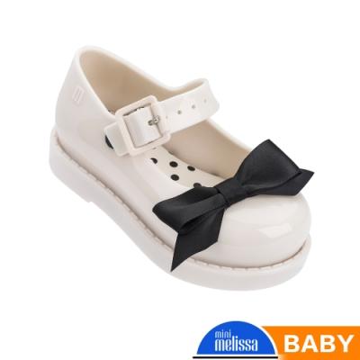 Melissa 氣質點點蝴蝶結公主鞋 寶寶款 白