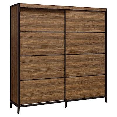 文創集 貝頓6.1尺衣櫃(吊桿+層格+可調層板)-183.6x60.6x196.1cm免組