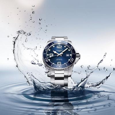 LONGINES 深海征服者陶瓷框潛水機械錶(L37814966)藍/41mm