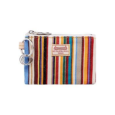 LES TOILES DU SOLEIL 法國蘇蕾包-鑰匙零錢包-湯姆彩條 @ Y!購物
