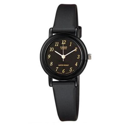 CASIO 簡單實用小錶面指針錶-黑面X數字(LQ-139AMV-1L)