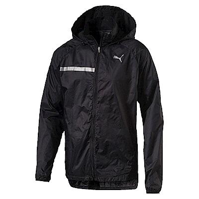 PUMA-男性慢跑系列輕量風衣外套-黑色-亞規