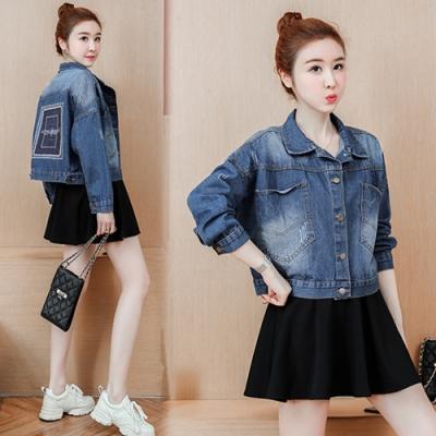 【韓國K.W.】追加款帥氣時尚丹寧外套-2色