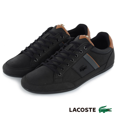 LACOSTE 男用運動休閒鞋-黑色