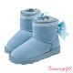 Grace gift-美少女戰士蝴蝶結變身器雪靴 淺藍 product thumbnail 1