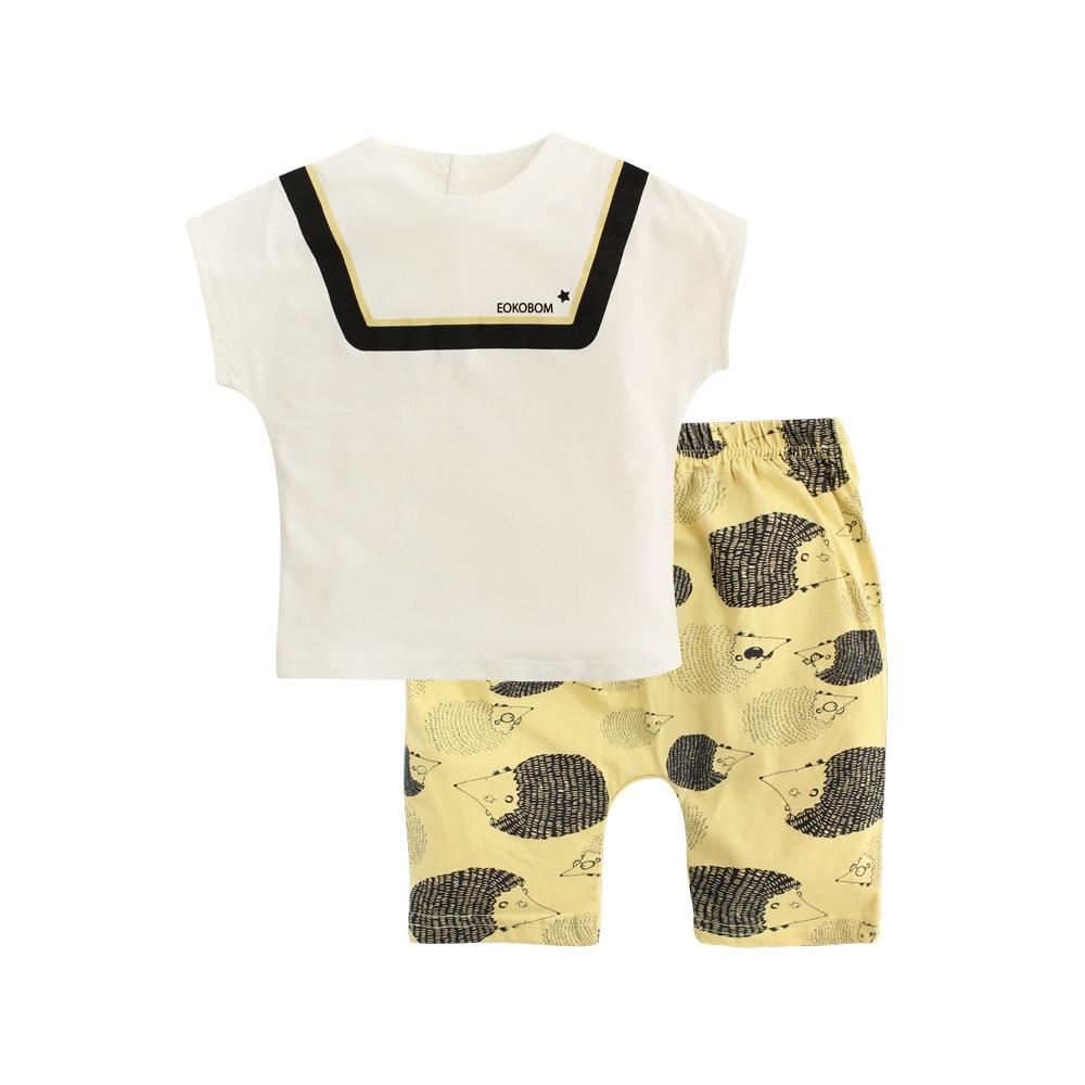 Baby童衣 短袖套裝 休閒印花短袖上衣短褲 LYT28 product image 1