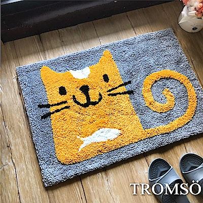 TROMSO 頂級凱薩雪毛尼吸水地墊-貓咪愛小魚